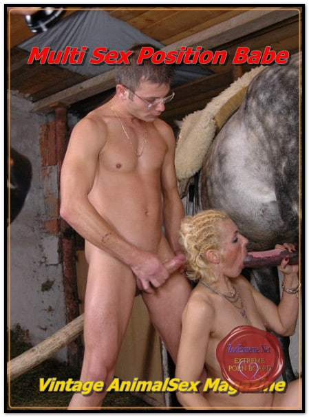 Vintage AnimalSex Magazine - Multi Sex Position Babe