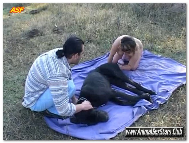 Anelia - Anelia with man and dog