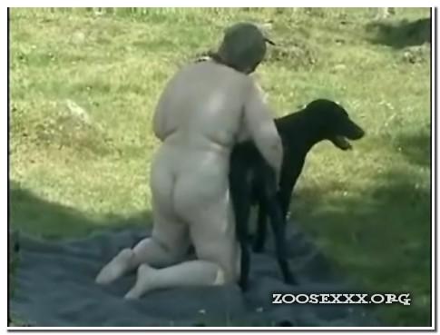 Caledonian - Zenya and her black dog